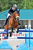 Rider On Show Jump Horse