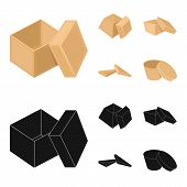 Case, Shell, Framework, And Other Web Icon In Cartoon, Black Style.box, Container, Package, Icons In poster