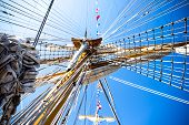 Old Sailing Ship Mast. Old Ship Vessel poster