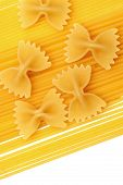 Spaghetti And Farfalle Background poster