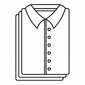 Clean Shirts Icon. Outline Illustration Of Clean Shirts Icon For Web Design Isolated On White Backgr poster