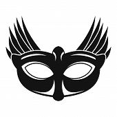 Bird Carnival Mask Icon. Simple Illustration Of Bird Carnival Mask Icon For Web Design Isolated On W poster