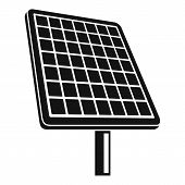 Solar Panel Icon. Simple Illustration Of Solar Panel Icon For Web Design Isolated On White Backgroun poster