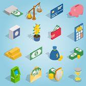 Isometric Bank Icons Set. Universal Bank Icons To Use For Web And Mobile Ui, Set Of Basic Bank Eleme poster