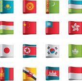 Vector flags. Asia, part 5