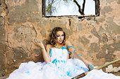 Blue Paint Bride