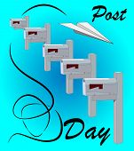World Post Day, October 9. Conceptual Design Illustration Vector For World Post Day With Letter And  poster