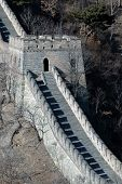 stock photo of zedong  - A section of The Great Wall of China with watchtower - JPG
