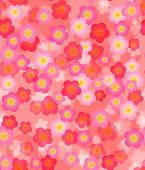 picture of cherry blossom  - Spring Time Cherry Blossom Seamless Tile Pattern Background Illustration - JPG