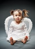 Baby Girl Dressed As An Angel