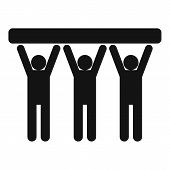 Strong Teamwork Icon. Simple Illustration Of Strong Teamwork  Icon For Web poster