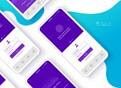 Conceptual Mobile Phones For User Interface, User Experience Presentation. Smartphone Mock-up. Mobil poster