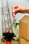 keys of a housing with the move. tenant