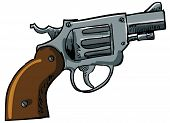 Illustration of a snub nose revolver