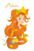 image of cartoon character  - autumn season cartoon character - JPG