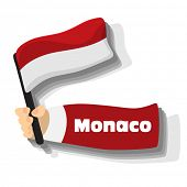 Flag of monaco icon, vector flags of europe series.