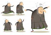 dibujos animados graciosos personajes vector conjunto vieja bruja