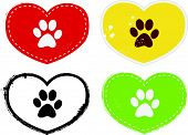 foto of paw-print  - Collection Of Heart Shaped Paw Print Icons - JPG