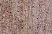 Brown Plastered Handmade Rough Wallpaper. Beautiful Decorative Plastered Wall. Rough Texture. poster