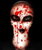Alien Psycho Clown With Blood