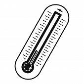 Fever Thermometer Icon. Simple Illustration Of Fever Thermometer Icon For Web poster