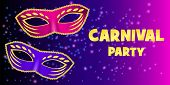 Carnival Party Banner. Realistic Illustration Of Carnival Party Banner For Web poster