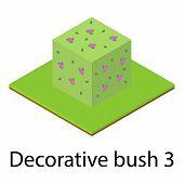 Bush Icon. Isometric Illustration Of Bush Icon For Web poster