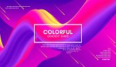 Wave Flow Shape. Abstract 3d Background. Modern Colorful Liquid. Vector Illustration Eps10. Trendy A poster