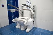 Toilet made specially for disabled person use