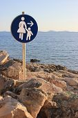 Woman And Child - Beach Path Sign
