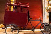 Young Boy School Transportation Cycle Rickshaw