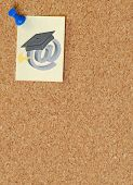 Corkboard With Online Graduation