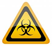 Biohazard warning vector sign