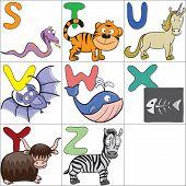 Alphabet With Cartoon Animals 3