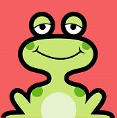 Frog cartoon avatar