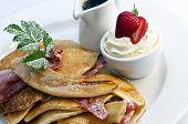 Stack of breakfast pancakes