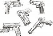 Bocetos de pistola