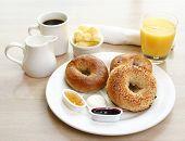 Breakfast Series  Bagels, Coffee And Juice