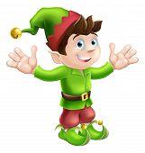 Christmas Elf Waving