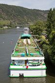 Cruise Ships Near Cochem At The River Moselle In Germany