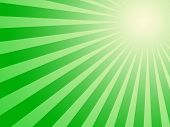 Green Sun Background