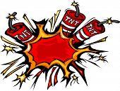 Dynamite Explosion Cartoon Vector Illustration