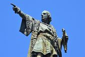 image of christopher columbus  - Another view of Christopher Columbus. Located in Barcelona, Spain. - JPG