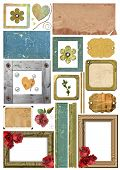 A Set Of Scrap Elements, Picture Frames, Photo Edges And Paper.