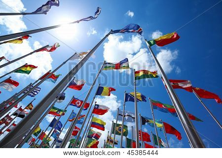Flags Of Countries Around The World poster