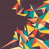 Colorful abstraction with angular shapes. Vector illustration.