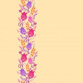 Tulip flowers horizontal seamless pattern background border
