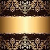 Gold Jewelry Frame