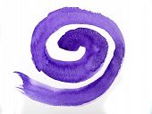 Purple Spiral On White