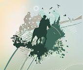 Abstract Blot Riders